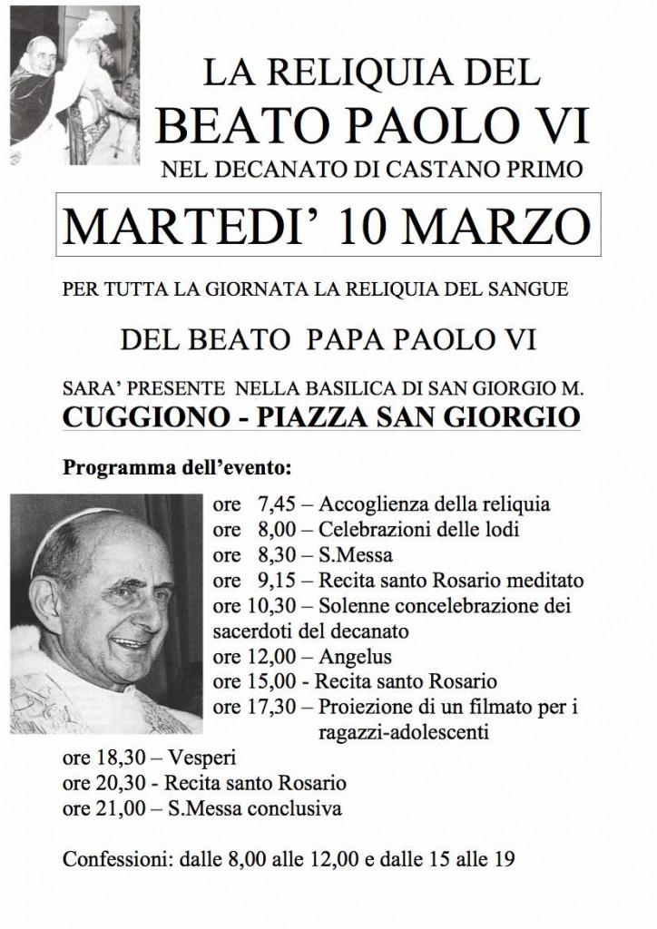Reliquia Paolo VI