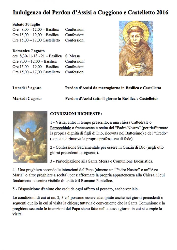 Indulgenza del Perdon d Assisi